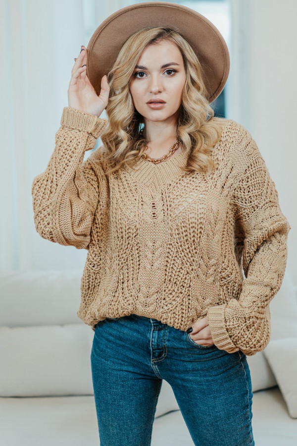 Sweter FALL Camel