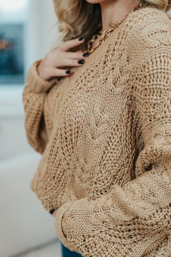 Sweter FALL Camel 1