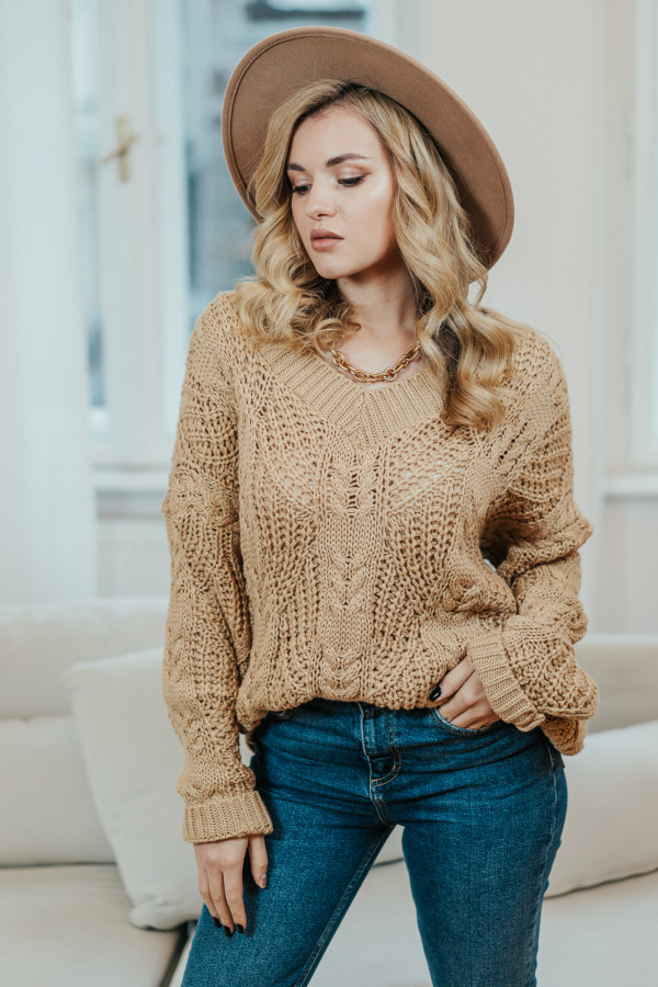 Sweter FALL Camel 2