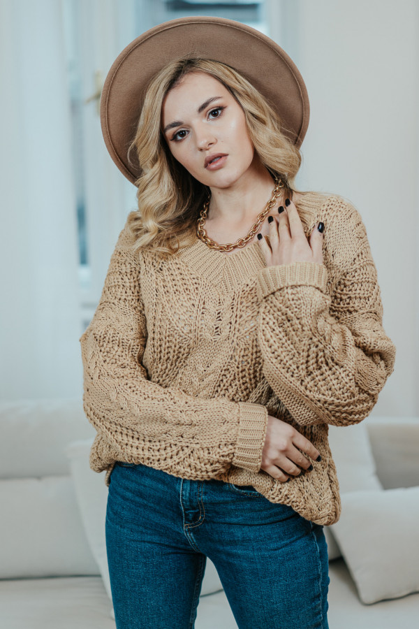 Sweter FALL Camel 3