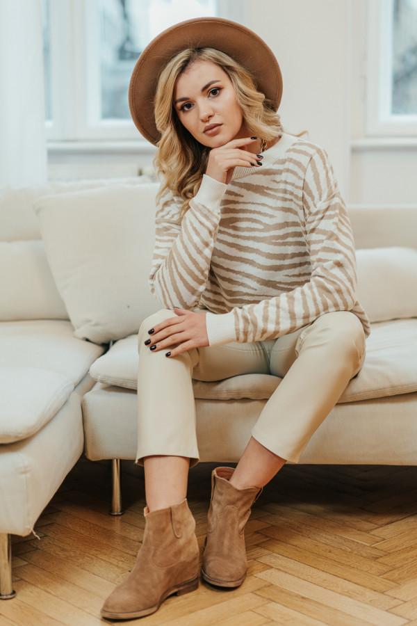 Sweter ZEBRA Beige 3