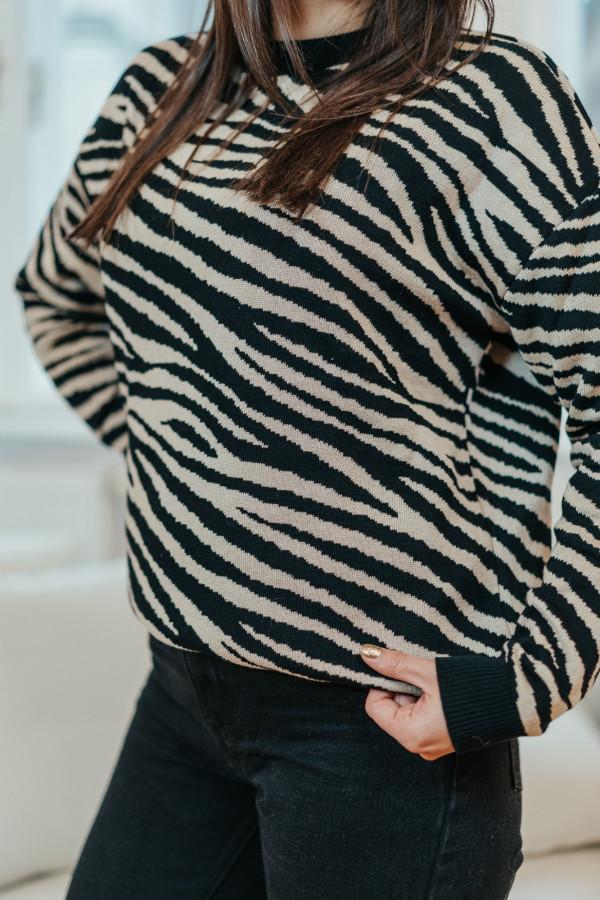 Sweter ZEBRA Black 1