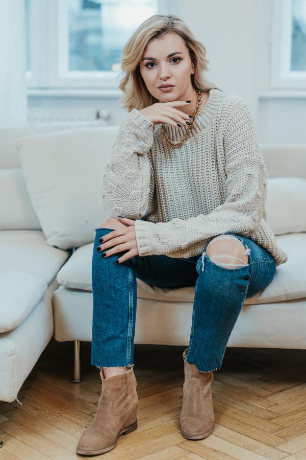 Sweter BARI Beige 2