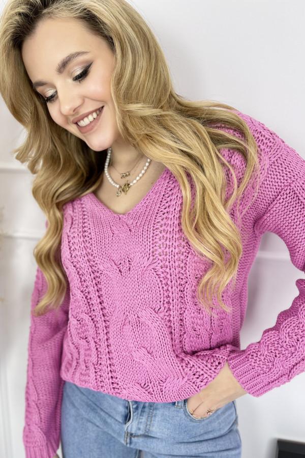 Sweter AUSTIN Fuchsia 1