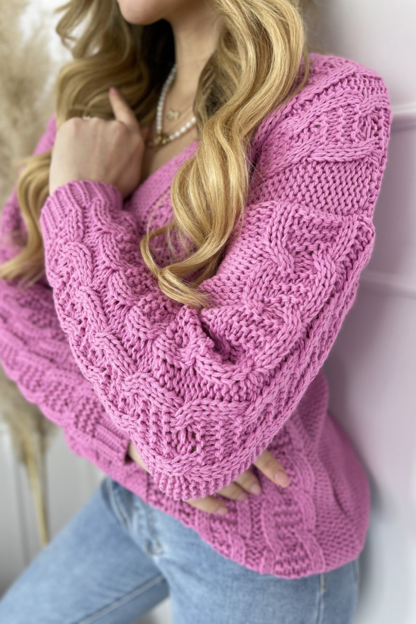 Sweter AUSTIN Fuchsia 3