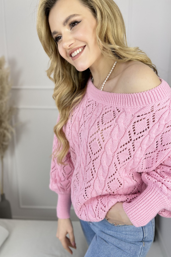 Sweter LOVE ME Pink 3