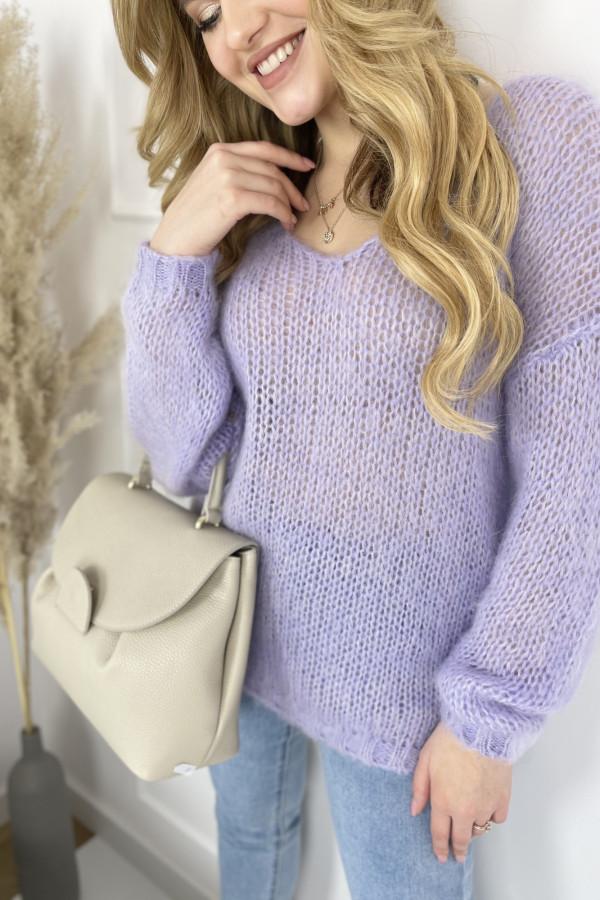 Sweter MIA moher lila
