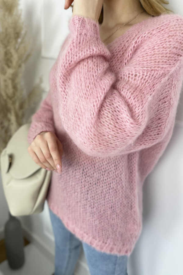 Sweter Mia moher Pink 2