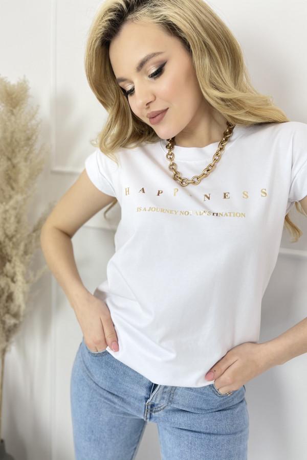Tshirt HAPPINESS White 1