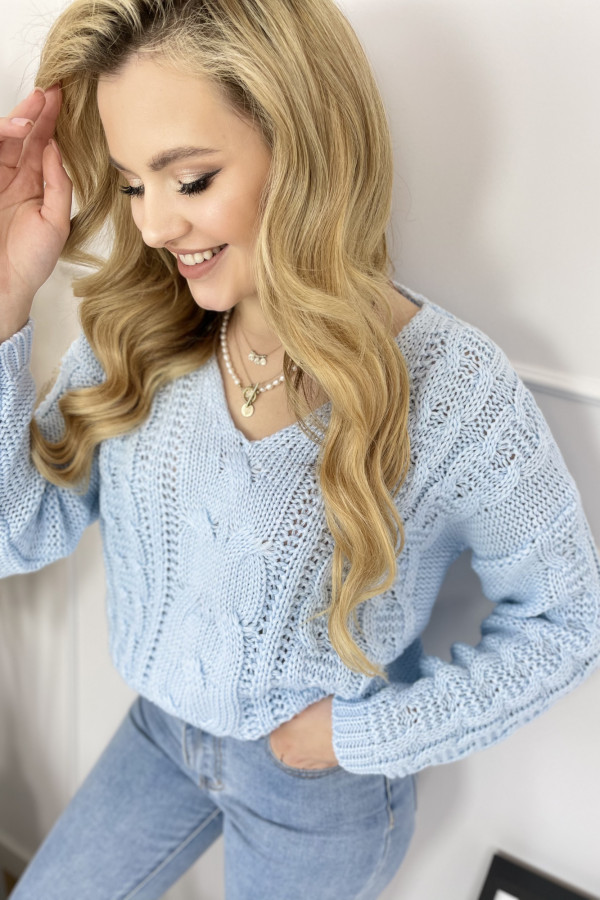 Sweter AUSTIN Baby Blue