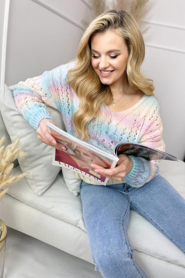 Sweter RAINBOW Ażurek 3