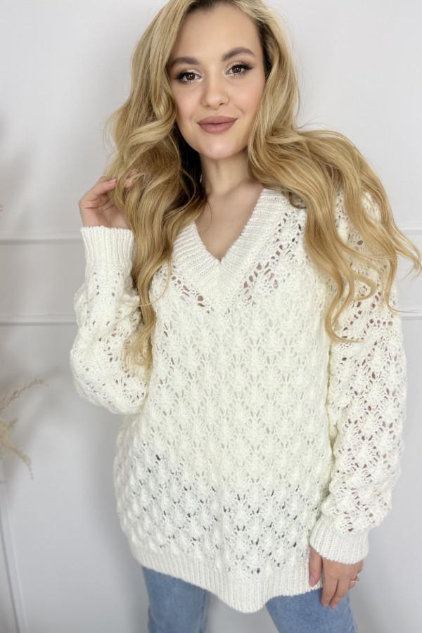 Sweter SHELLY Ecru