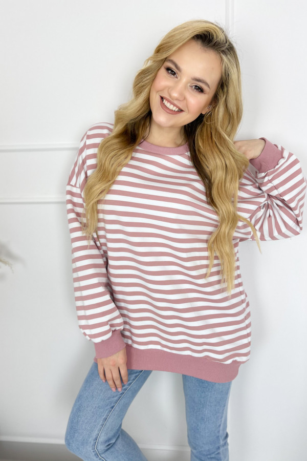 Bluza NOA Stripes Pink