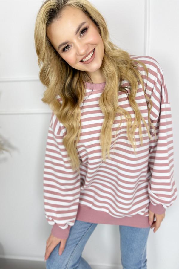 Bluza NOA Stripes Pink 1
