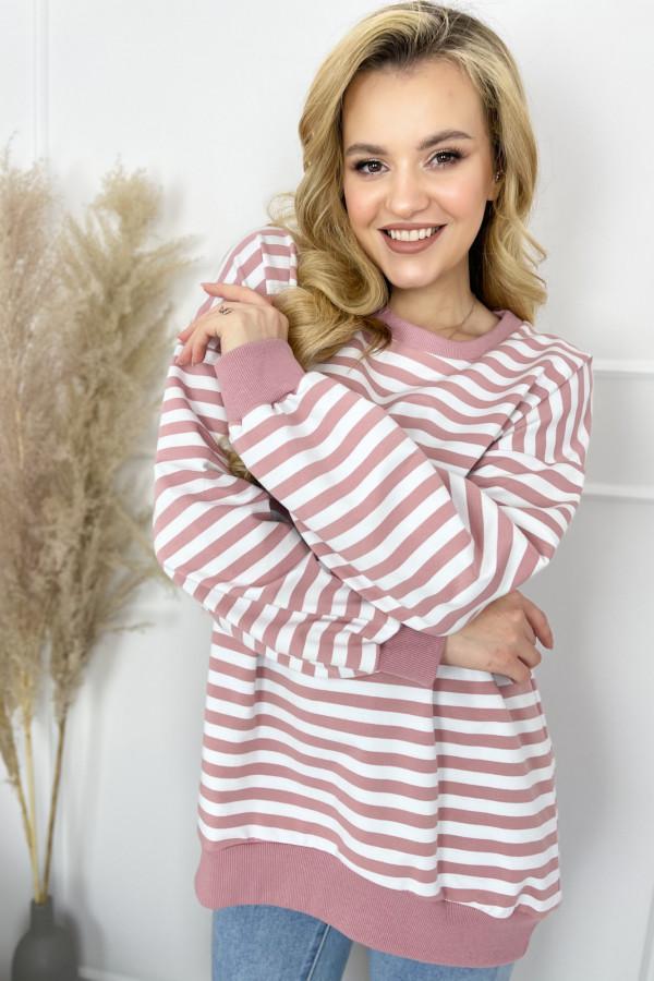 Bluza NOA Stripes Pink 2