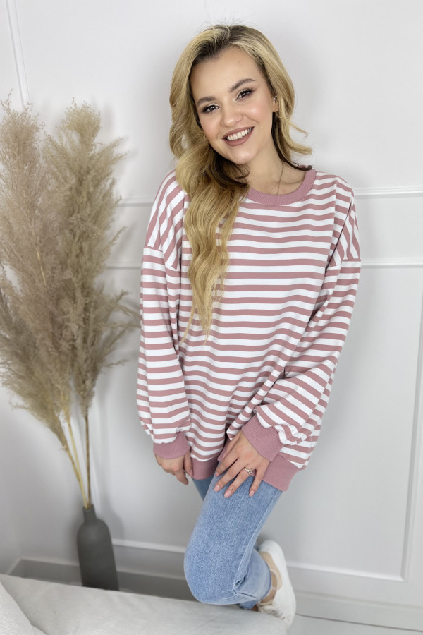 Bluza NOA Stripes Pink 3