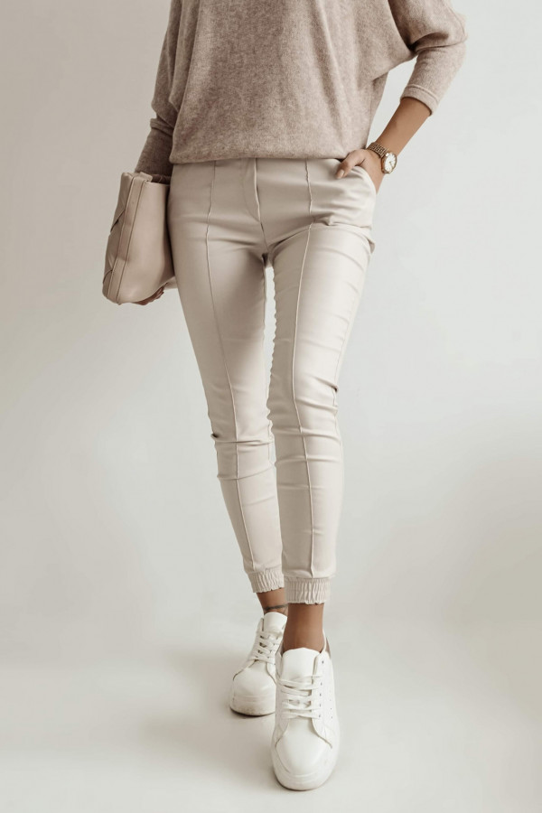 Woskowane Spodnie TOMMY Beige