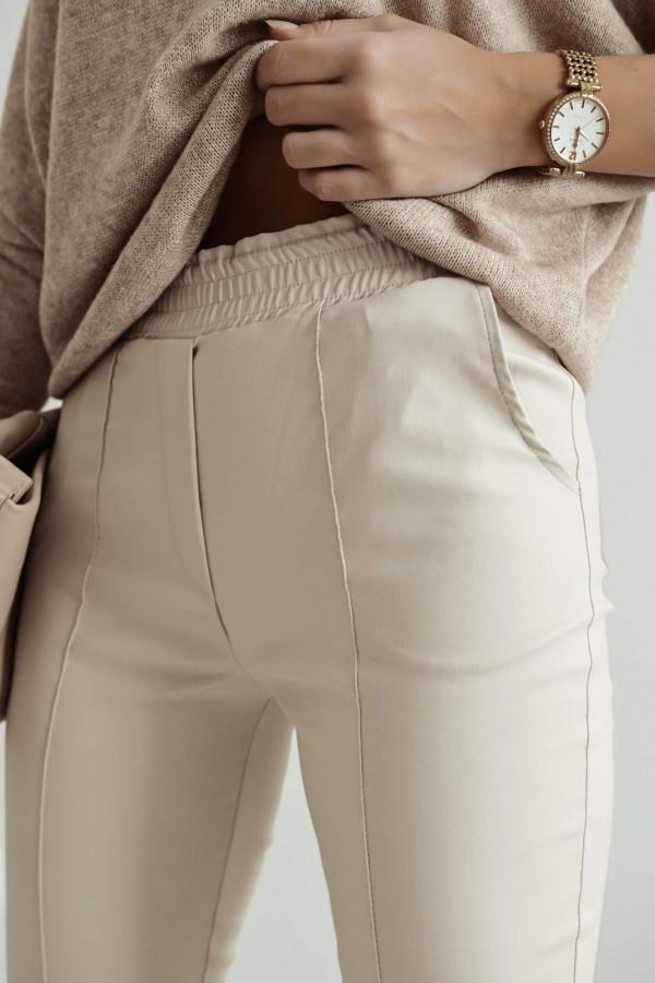 Woskowane Spodnie TOMMY Beige 1