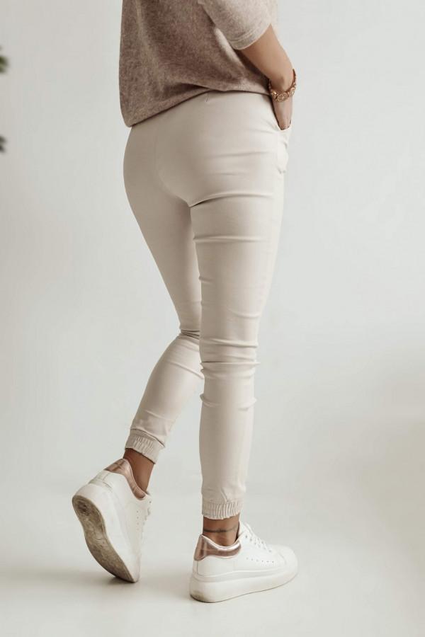 Woskowane Spodnie TOMMY Beige 2