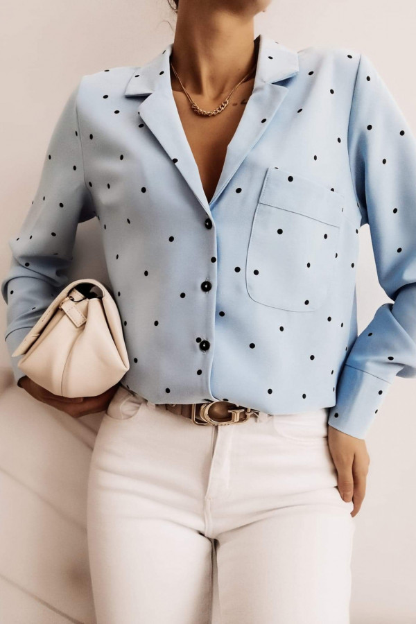Koszula POULA Blue dots