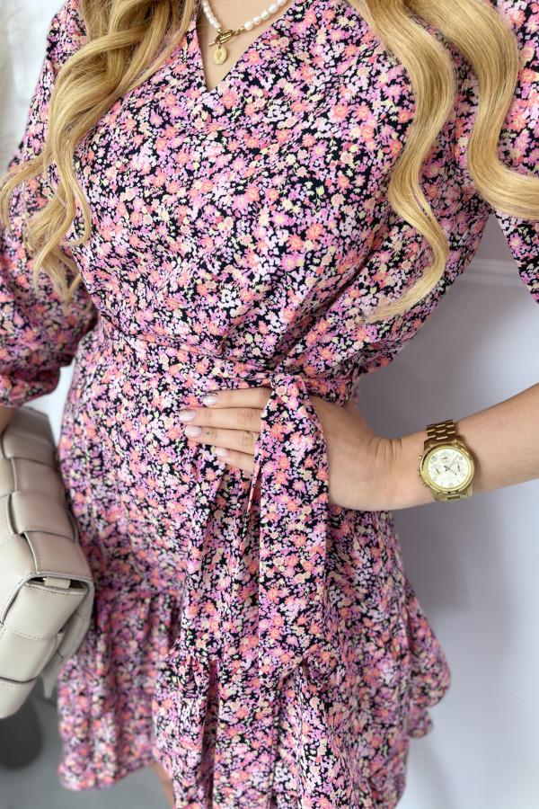 Sukienka ANYA Pink Flower 1