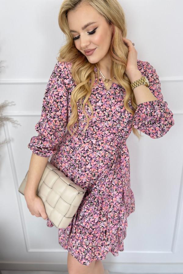 Sukienka ANYA Pink Flower 2