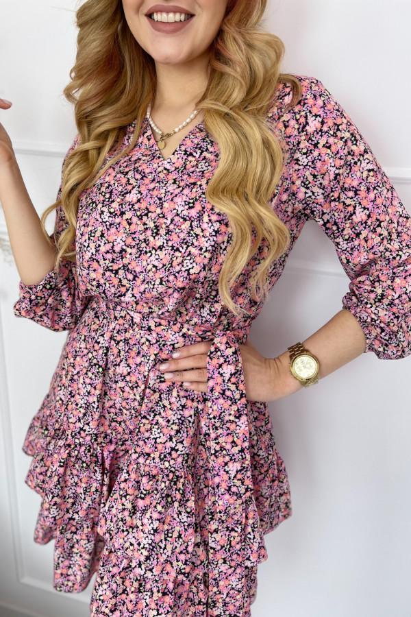 Sukienka ANYA Pink Flower 3