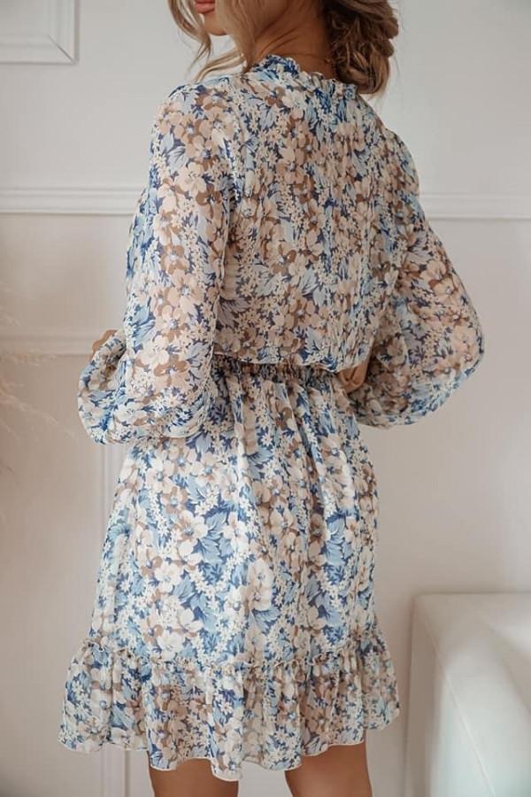 Sukienka FLORENCE Blue Flower 1