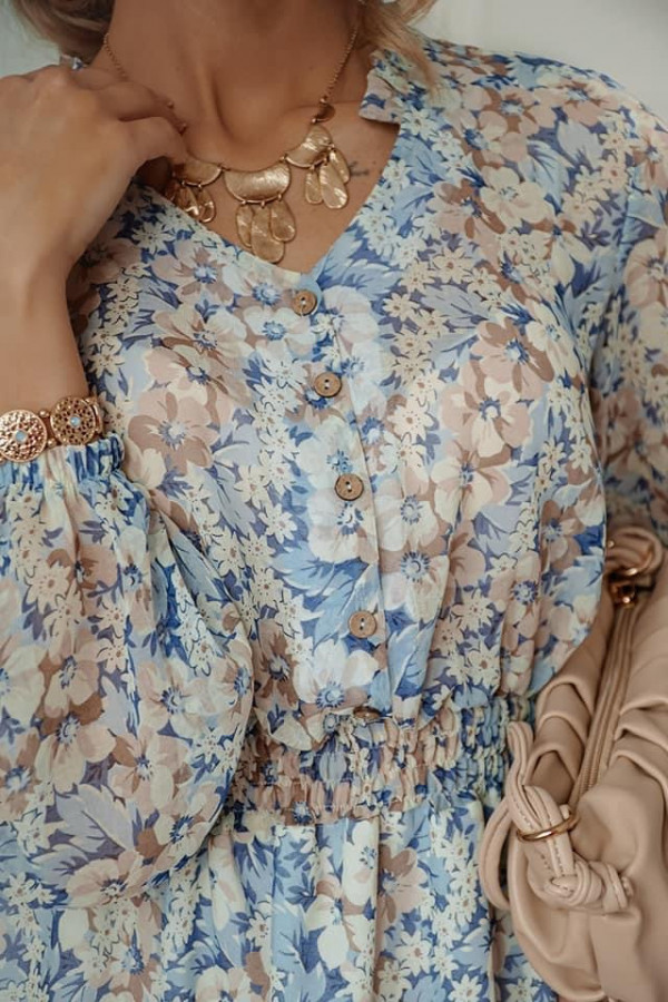 Sukienka FLORENCE Blue Flower 2