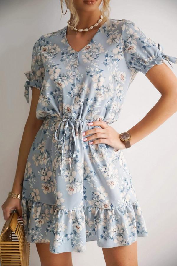 Sukienka NAOMI Blue Flowers
