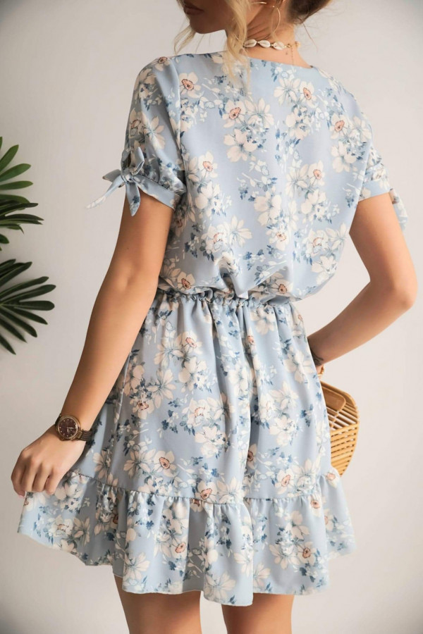 Sukienka NAOMI Blue Flowers 1