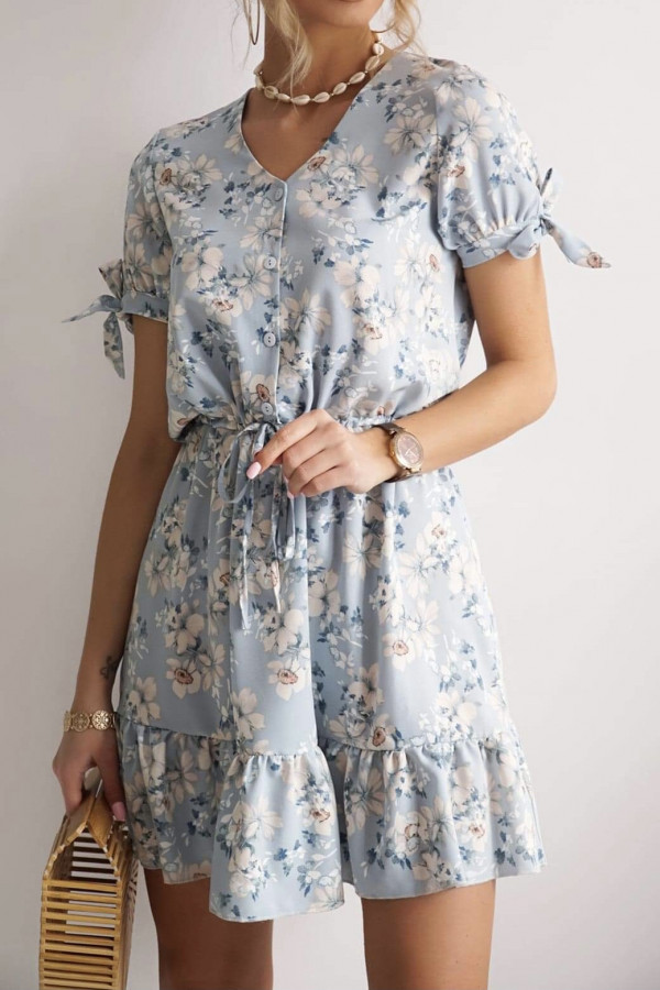 Sukienka NAOMI Blue Flowers 2
