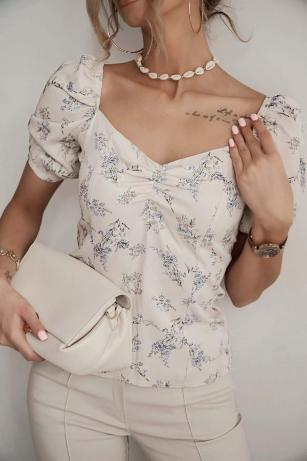 Bluzeczka ROSA Beige Flower