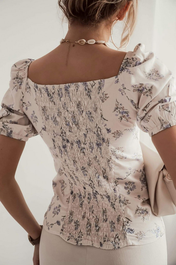 Bluzeczka ROSA Beige Flower 1