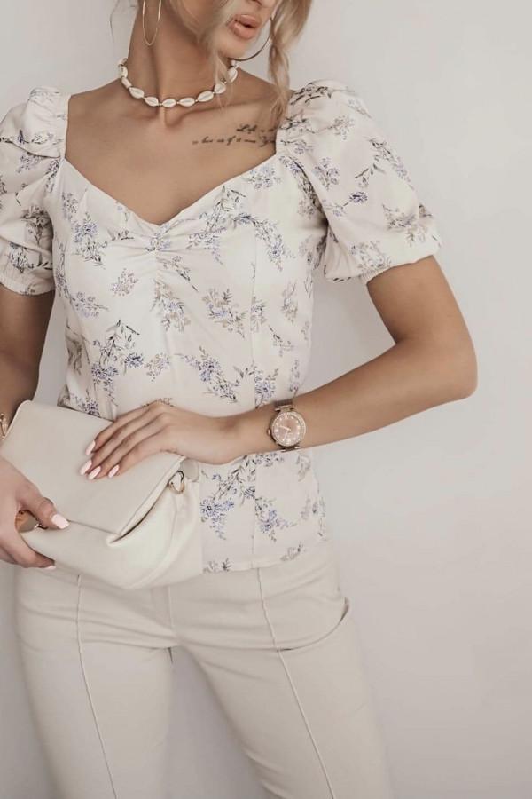 Bluzeczka ROSA Beige Flower 2