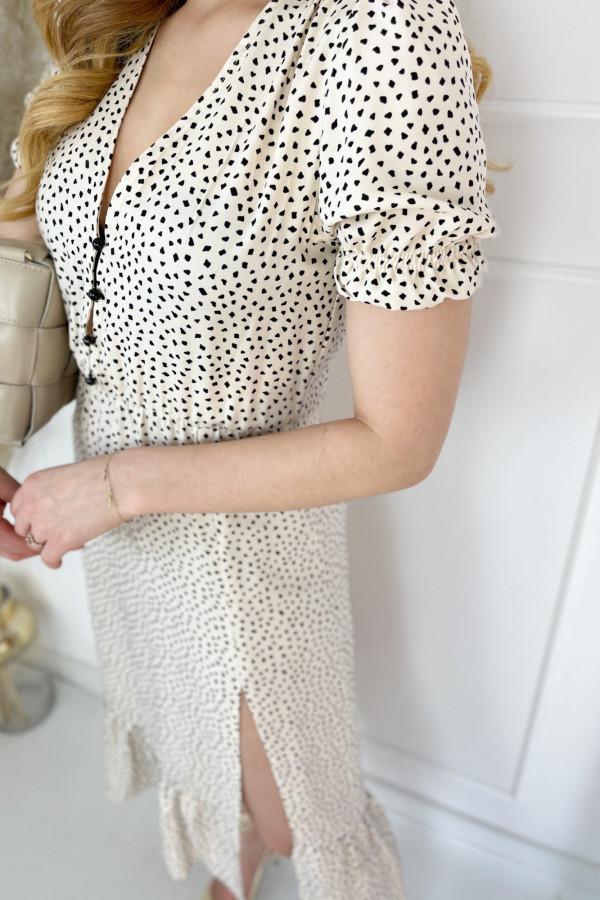 Sukienka VERONA Beige Dots 2