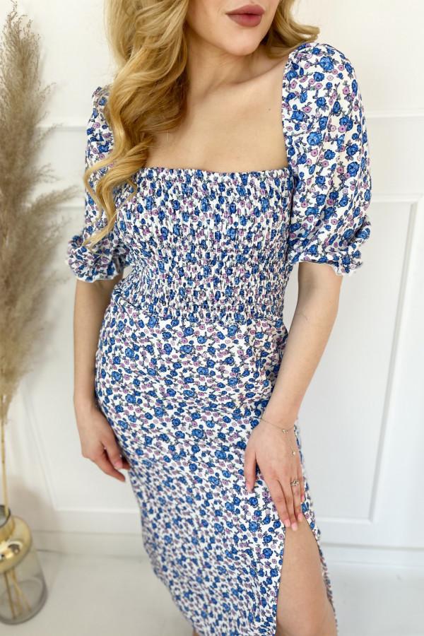 Sukienka ROMA Blue Flower