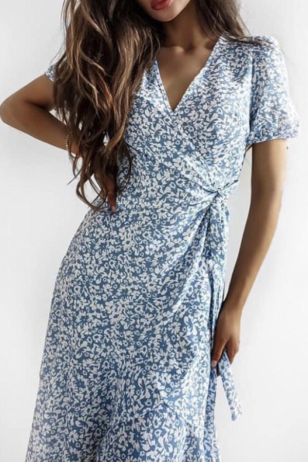 Sukienka SHEILA Blue Flower 1