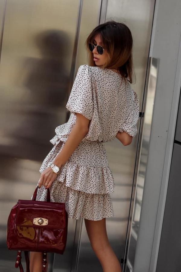 Sukienka SOHO Beige Dots 1