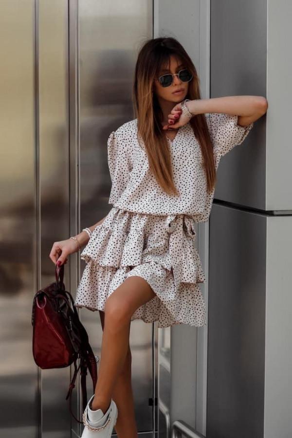 Sukienka SOHO Beige Dots 2