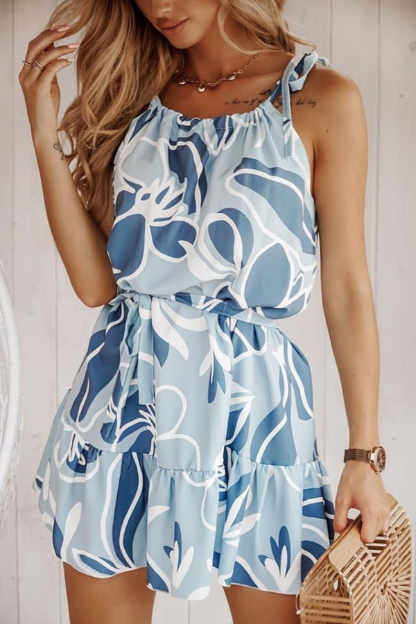 Sukienka LEILA BLUE Flower