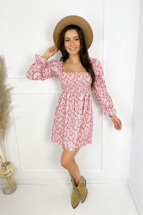 Sukienka CARRIE Pink Flower 1