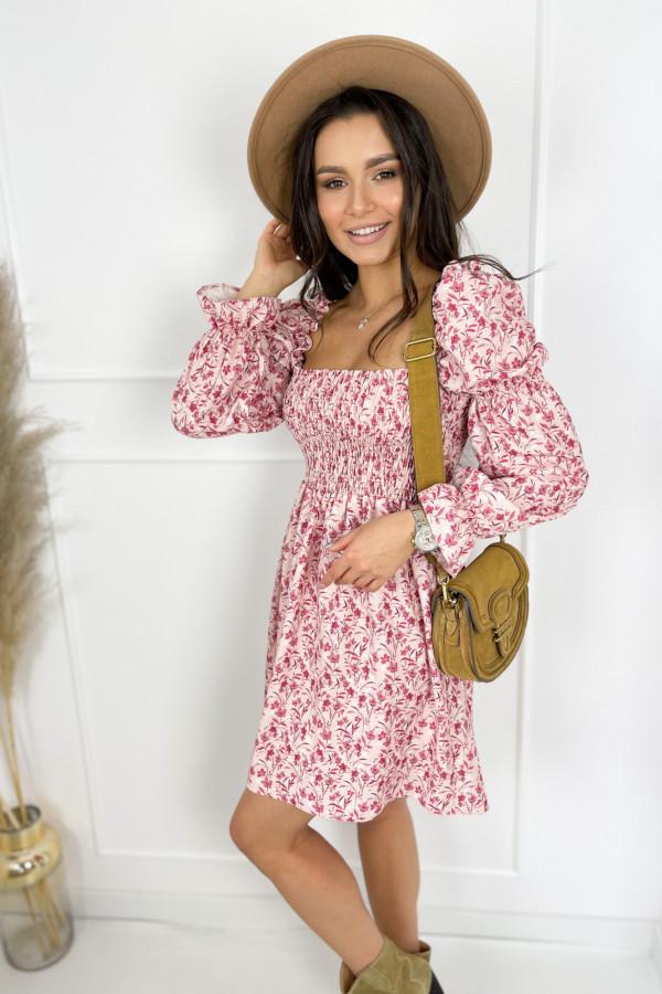 Sukienka CARRIE Pink Flower 2