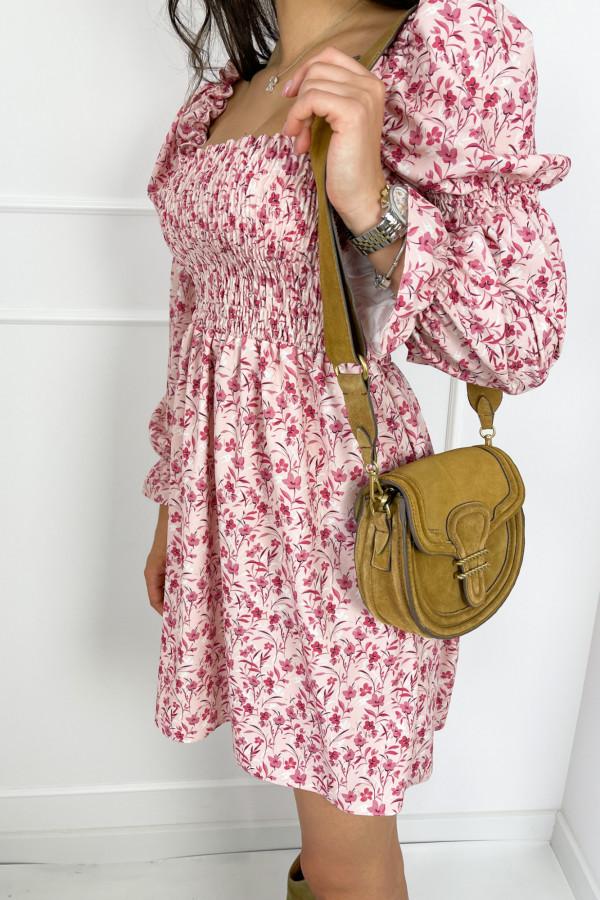 Sukienka CARRIE Pink Flower 3