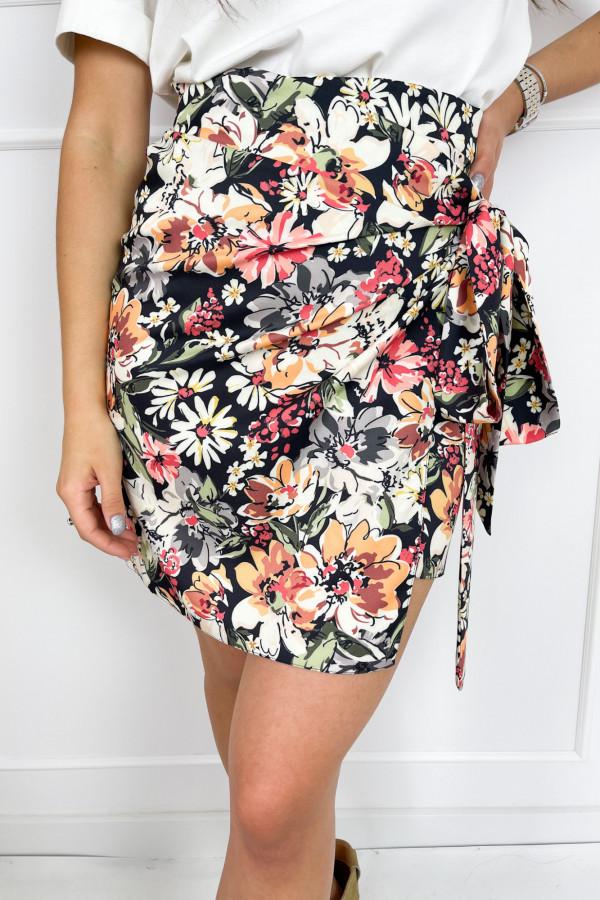 Spódnica JANET Flower Black 1