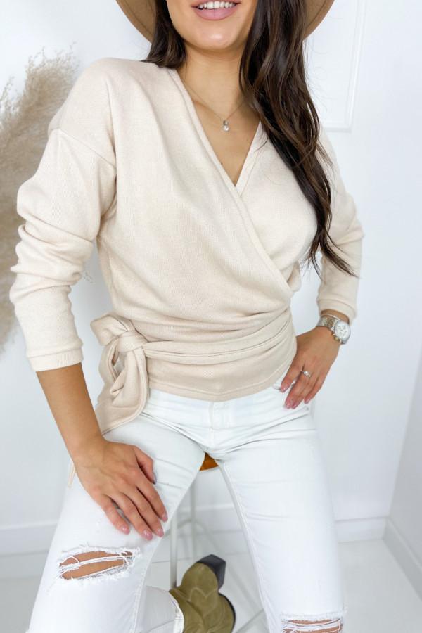 Sweter MIA Beige Przewiązywany 2