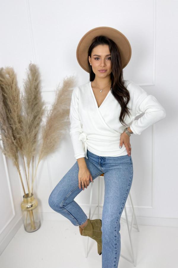 Sweterek MIA Ecru Przewiązywany 2