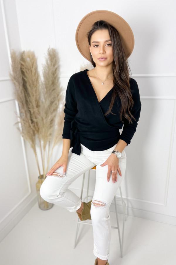 Sweterek MIA Black Przewiązywany 2