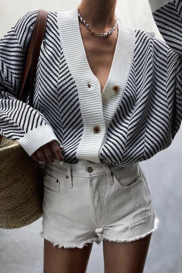 Sweter KAVI Black and White