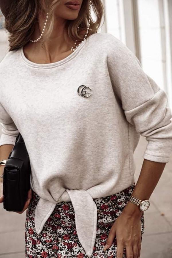 Sweter DENI Beige Melanż